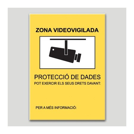 Zona videovigilada segons Autoritat Catalana PD