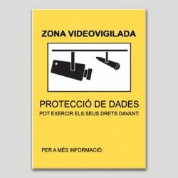 Zona Videovigilada según Autoridad Catalana P.D. Personalizable