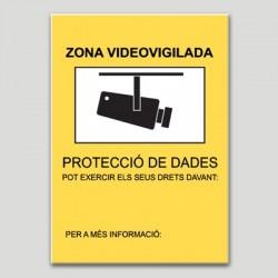 Zona videovigilada segons Autoritat Catalana PD personalitzable