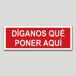 Prohibido personalizable horizontal