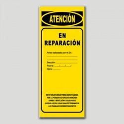 Cartel maquinaria MA14 - En reparación