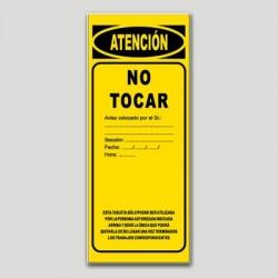 Cartel maquinaria MA17 - No tocar