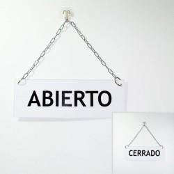 Cartel de Abierto Cerrado clásico