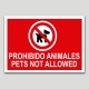 Prohibido animales-Pets not allowed