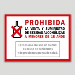 Prohibida la venda i subministrament de begudes alcohòliques a menors de 18 anys