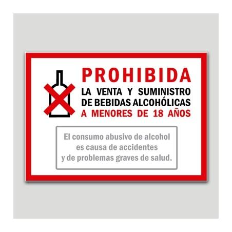 Cartel De Prohibida La Venta Y Suministro De Bebidas Alcohólicas A Menores De 18 Años