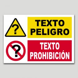 Combinado peligro-prohibición personalizable