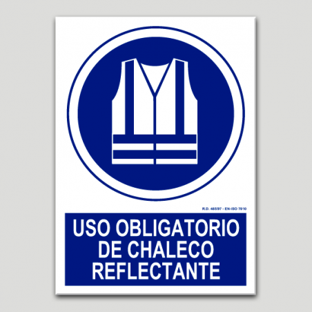 Uso obligatorio de chaleco reflectante