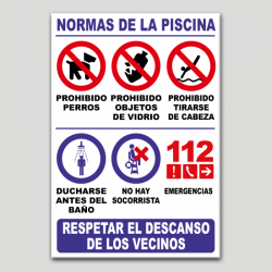 Cartel de piscinas