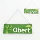 Cartell d'Obert Tancat color verd