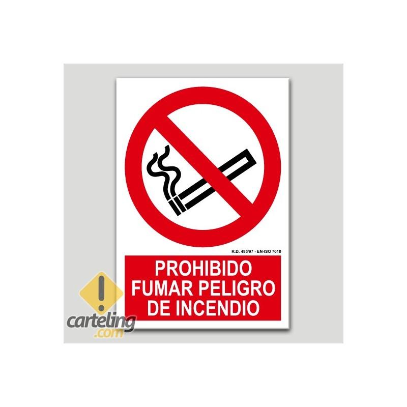 Prohibit fumar, perill d'incendi