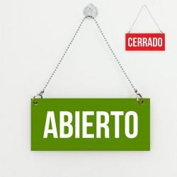 Cartell d'Obert Tancat vermell i verd