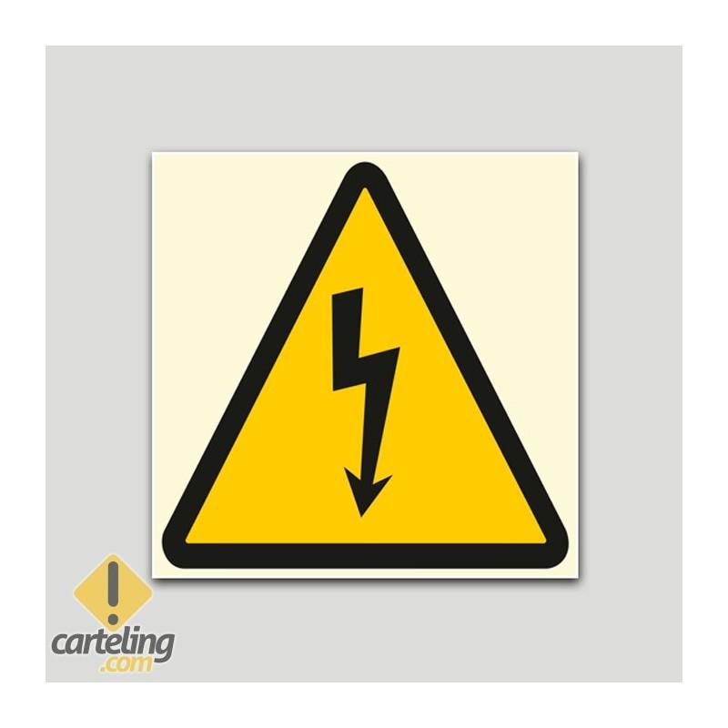 Adhesivo Fotoluminiscente riesgo eléctrico.