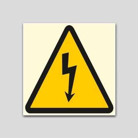 Adhesiu fotoluminiscent risc elèctric.