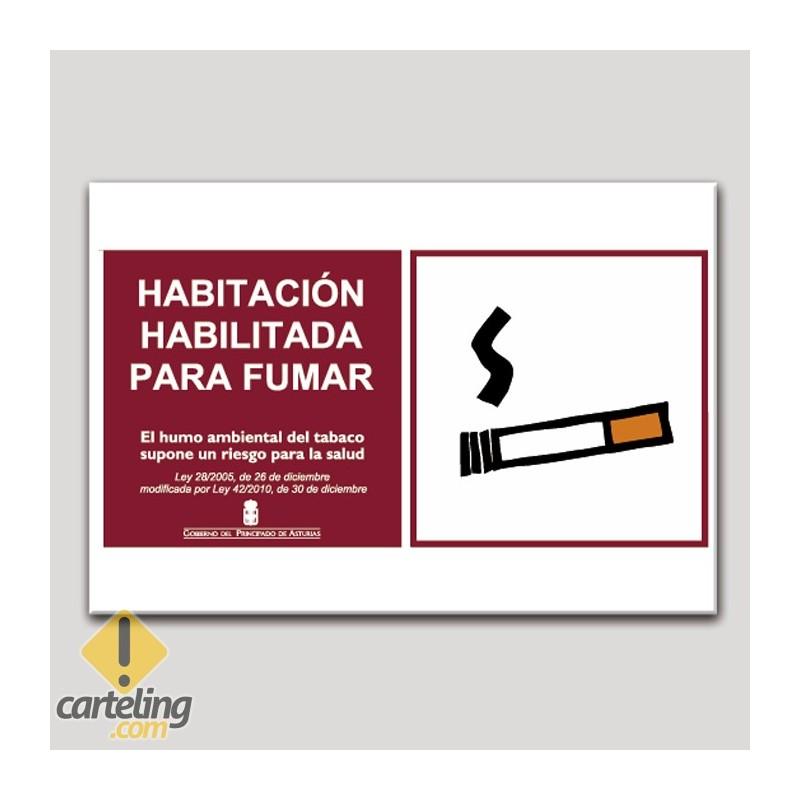 Habitación habilitada para fumar - Asturias