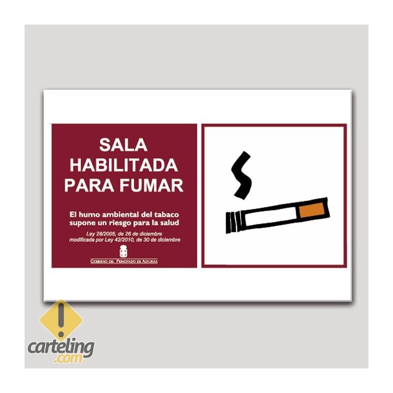 Sala habilitada para fumar - Asturias