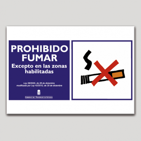 Prohibido fumar excepto en las zonas habilitadas - Asturias