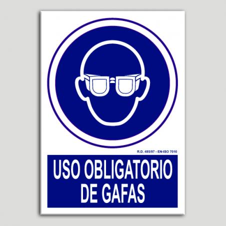 Uso obligatorio de gafas