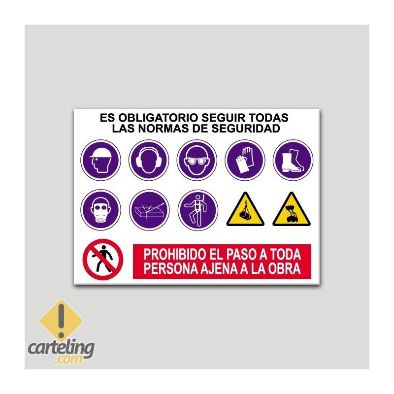 bc71cb185 Cartel normas de seguridad