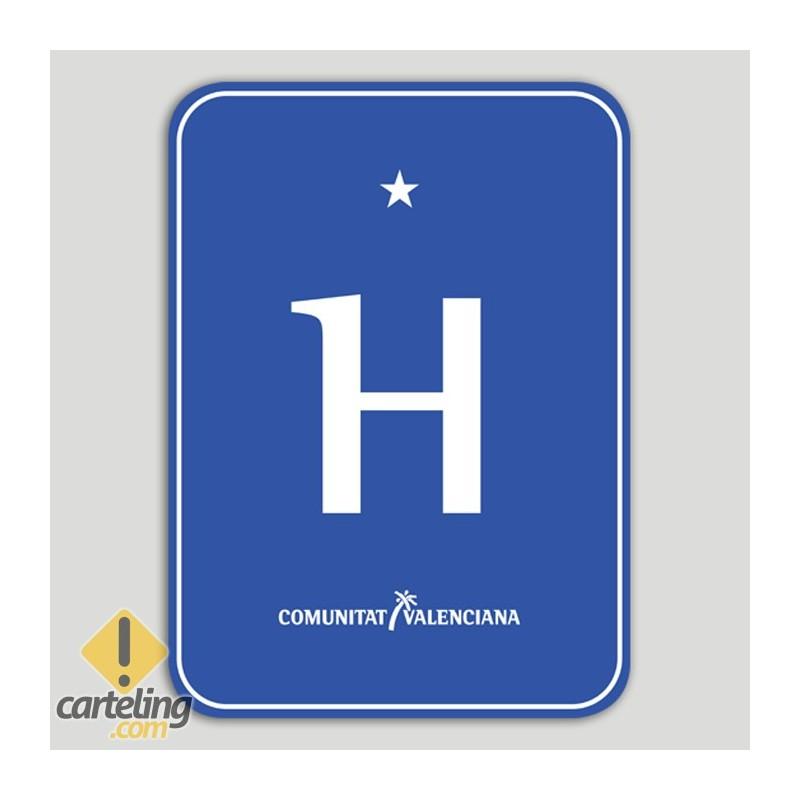 Placa distintiu hotel un estel - Comunitat Valenciana