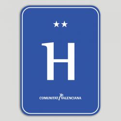 Placa distintivo hotel dos estrellas - Comunidad Valenciana