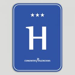 Placa distintivo hotel tres estrellas - Comunidad Valenciana