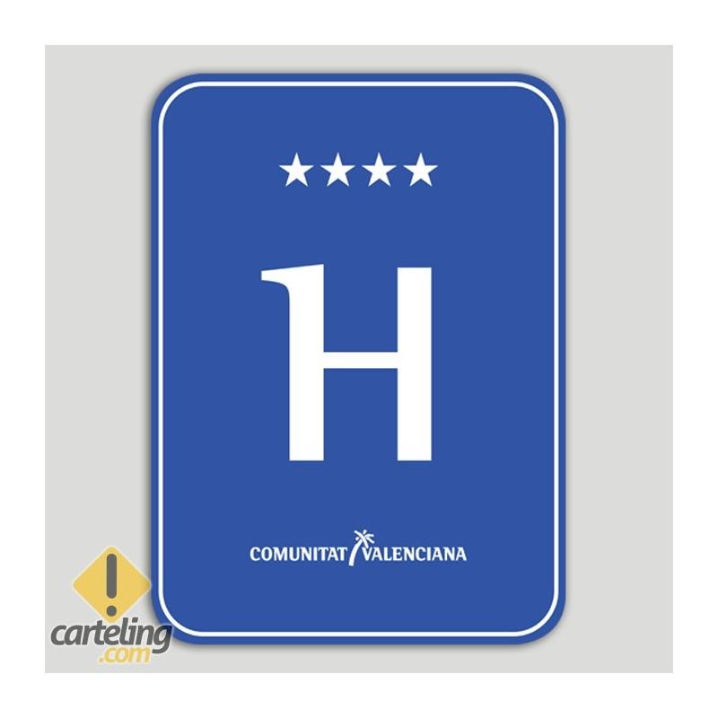 Placa distintiu hotel quatre estels - Comunitat Valenciana