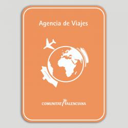 Placa distintiu Agència de Viatges - Comunitat Valenciana