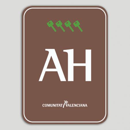 Placa distintivo Aparthotel Rural cuatro llaves - Comunidad Valenciana