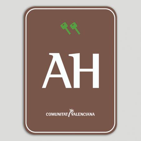 Placa distintivo Aparthotel Rural dos llaves - Comunidad Valenciana