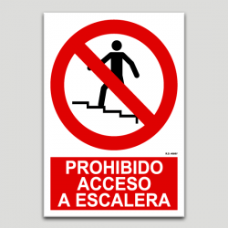 Prohibit accés a l'escala