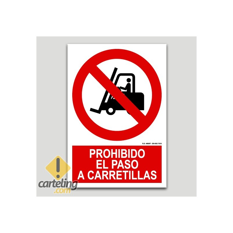 Prohibit el pas a carretons