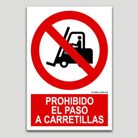 Prohibit el pas a carretons