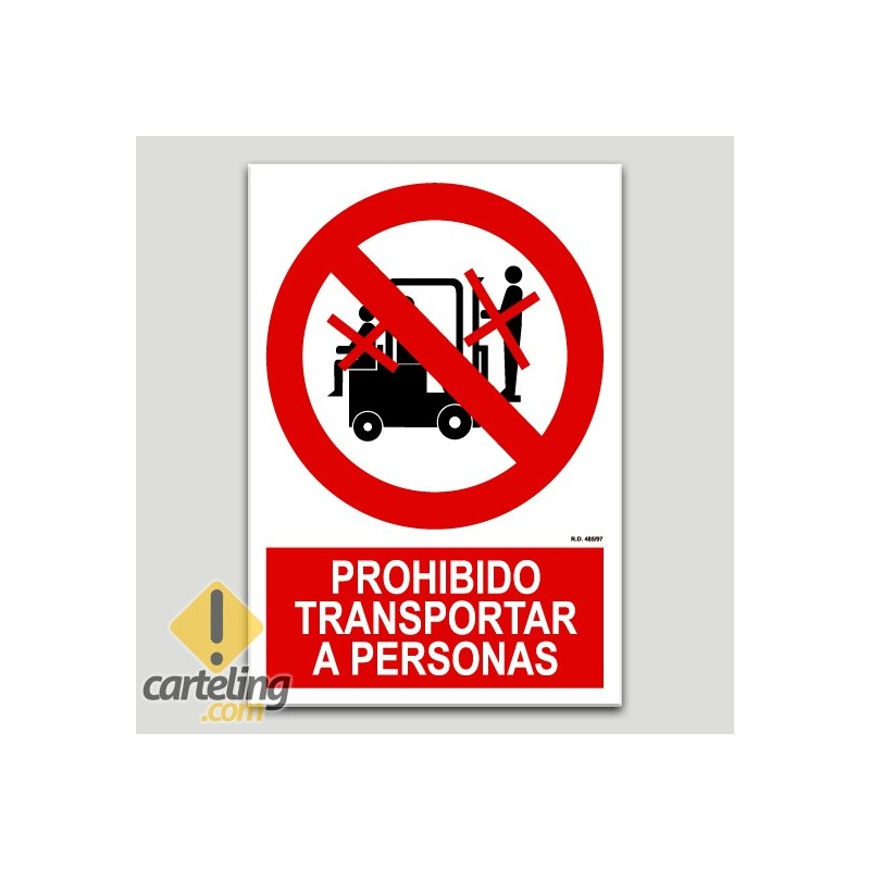 Prohibit transportar a persones