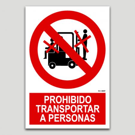 Prohibido transportar a personas