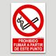 Prohibido fumar a partir de este punto