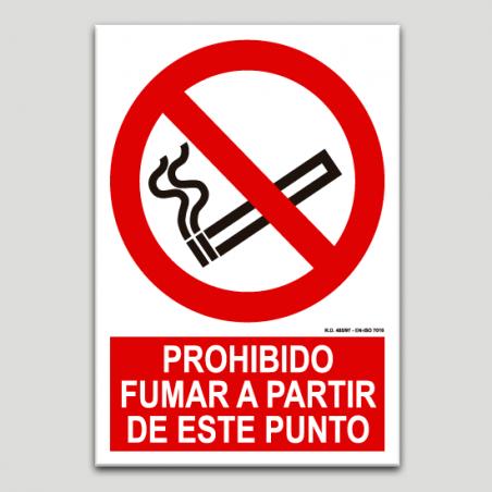 Prohibit fumar a partir d'aquest punt