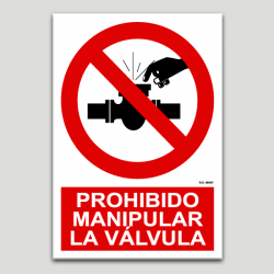 Prohibit manipular la vàlvula