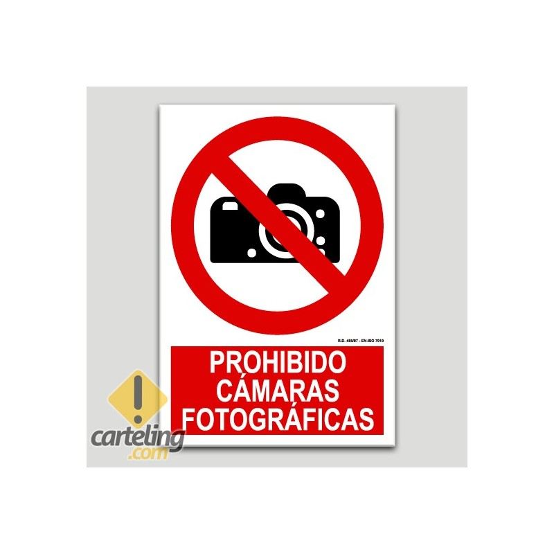 Prohibit càmeres fotogràfiques