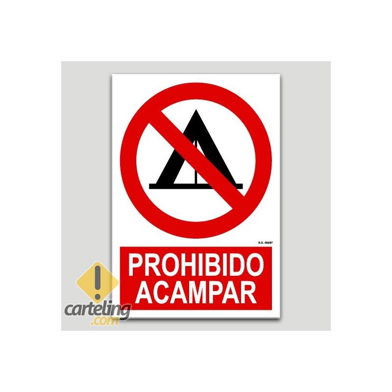 Prohibit acampar