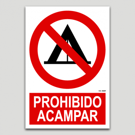 Prohibit acampar