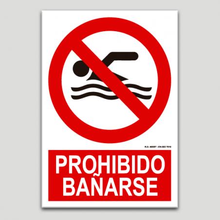 Prohibido bañarse