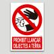 Prohibit llançar objectes a terra