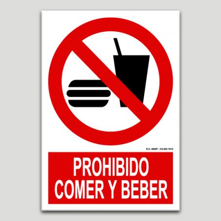 Prohibit menjar i beure