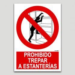 Prohibido trepar a estanterías