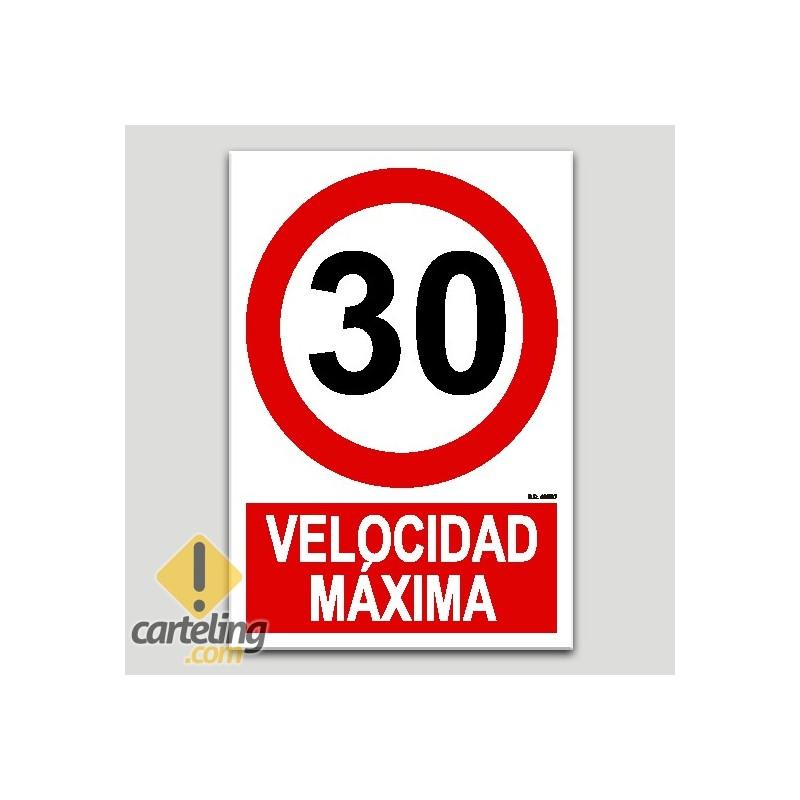 Velocitat màxima 30