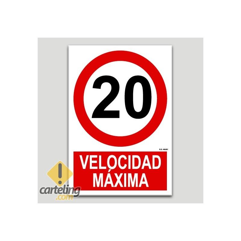 Velocidad máxima 20