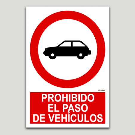 Prohibido el paso de vehículos