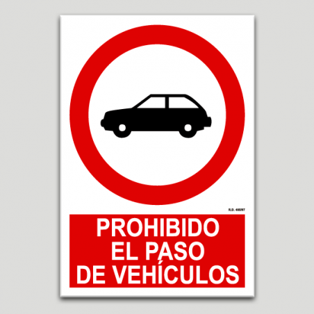 Prohibit el pas de vehicles