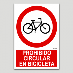 Prohibit circular en bicicleta